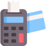 Calculator and credit card icon